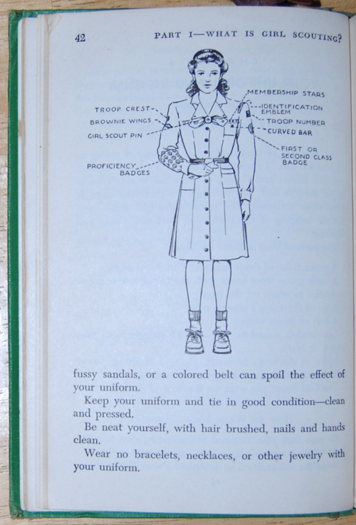 Girl scout handbook 1951 uniform