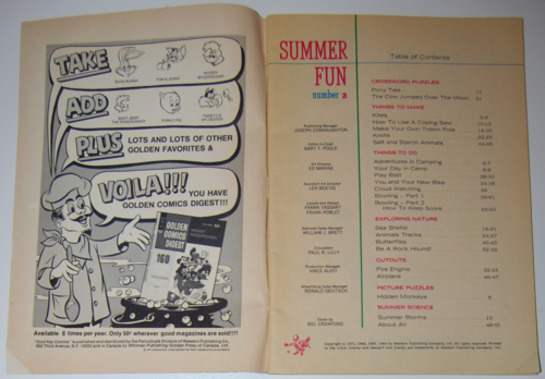 Golden special summer 1971 contents