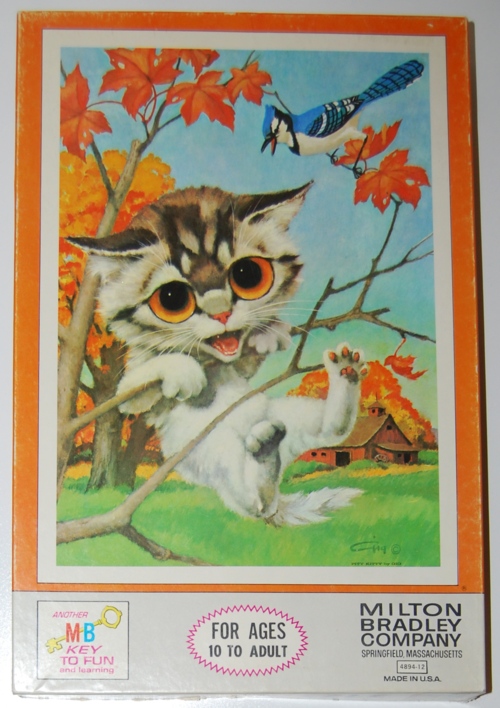 Pity kitty puzzle 1968 mb box
