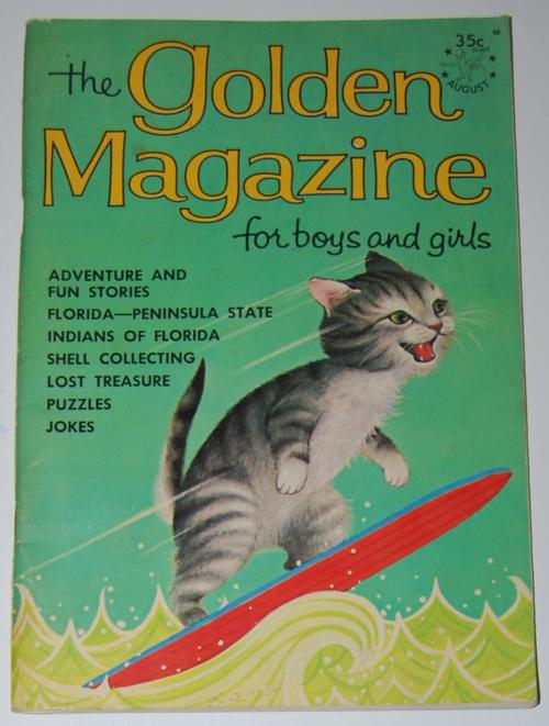 Surfer kitty 1964 golden mag