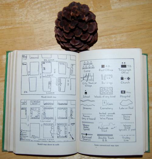 Girl scout handbook 1951 maps