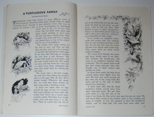 August 1950 jack and jill turtledoves