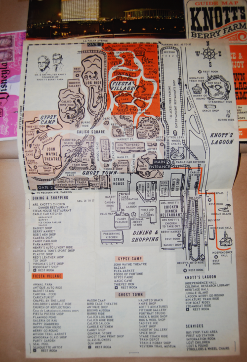 Vintage knott's berry farm map