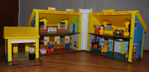 60's fisher price little people house