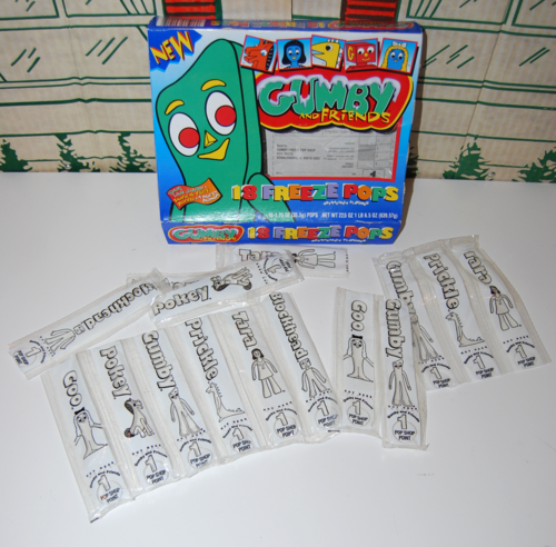 Gumby freeze pops