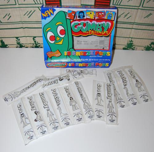 Gumby freeze pops