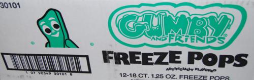 Gumby freeze pops 5