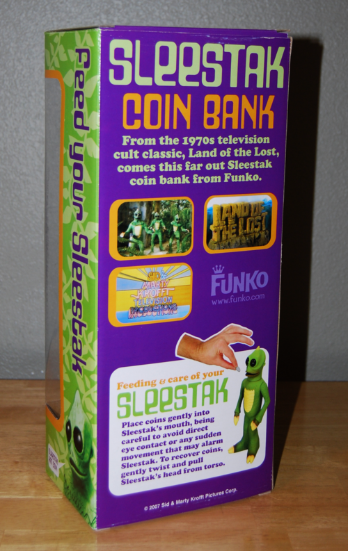 Sleestak coin bank 2