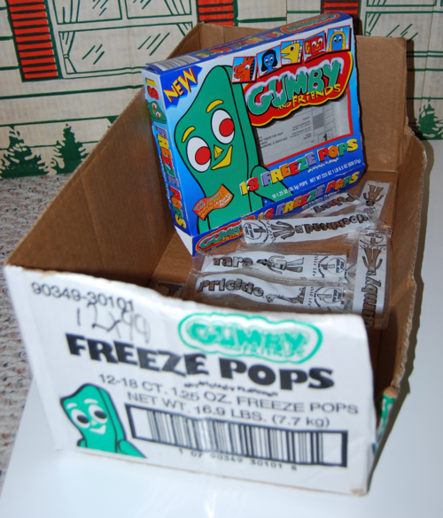 Gumby freeze pops 6