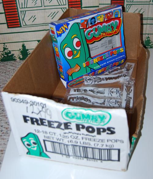 Gumby freeze pops 6
