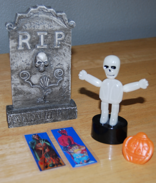 Skeleton push toy