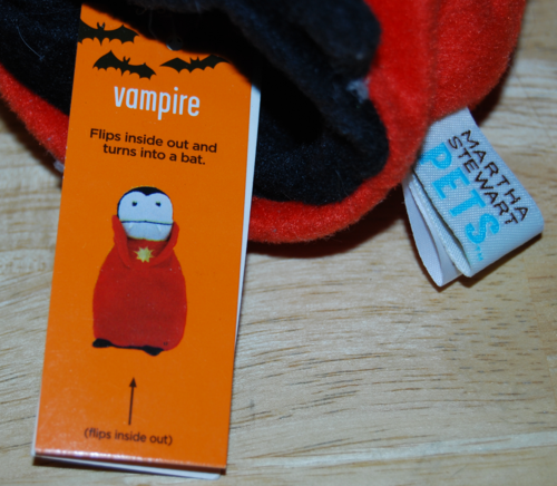 Martha stewart pets vampire bat toy 2