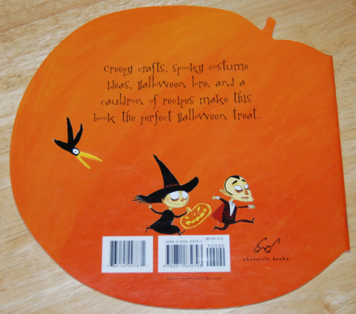 The halloween activity book 2002 back
