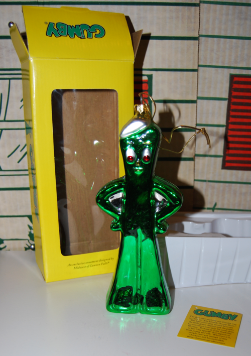 Gumby glass christmas ornament 2