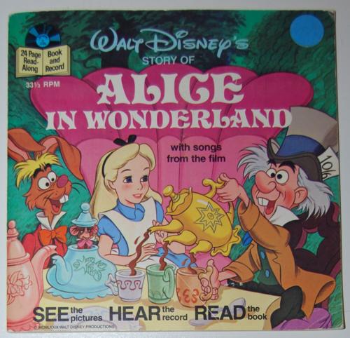 Disney alice book record 1979