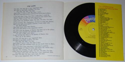 Disney alice book record 1979 back