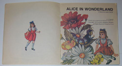 Wonderland alice book record 1975