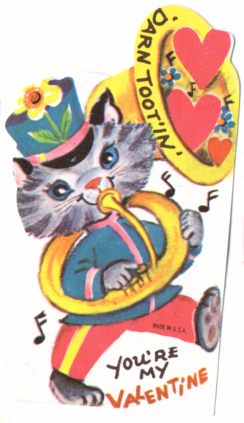 Vintage valentine kitty band