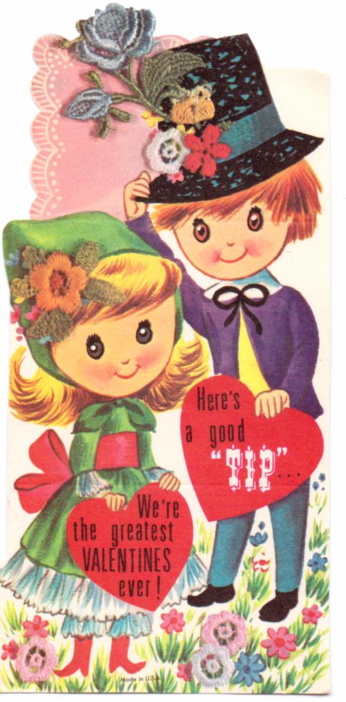 Vintage valentine tip