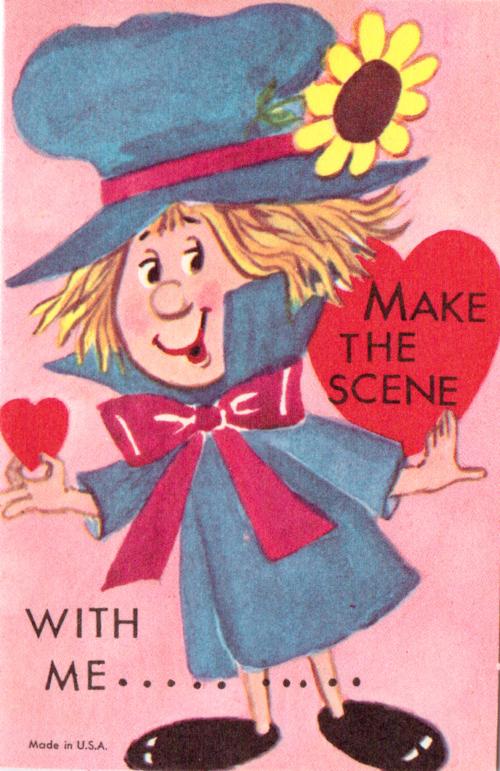 Vintage valentine scene