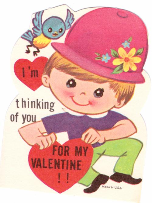 Vintage valentine bird