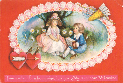 Vintage valentine loving sign