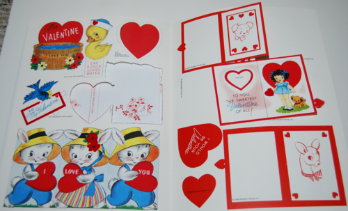 Vintage flocked valentines book 2006 3