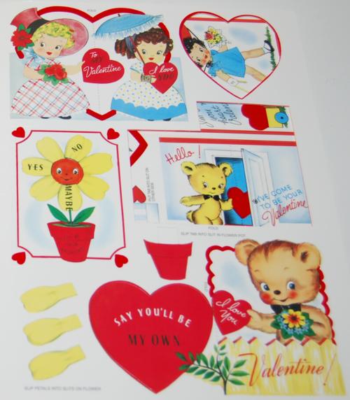 Vintage flocked valentines book 2006