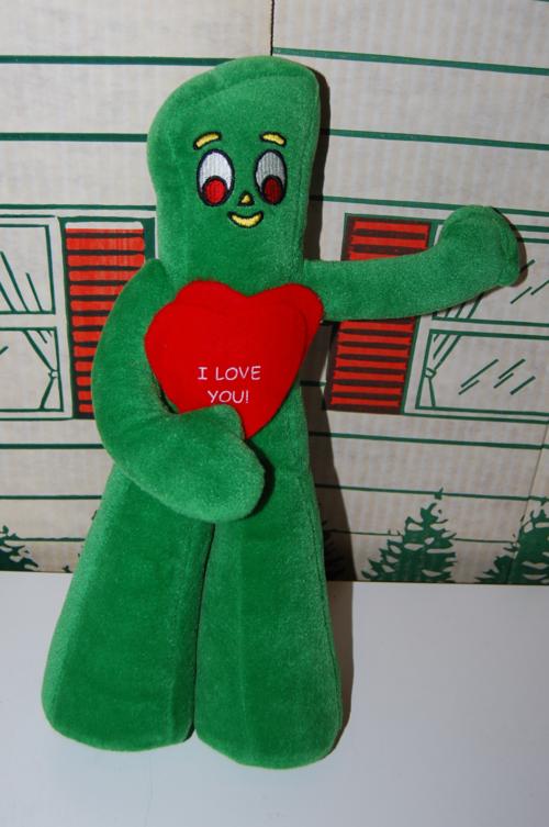 Valentine gumby plush x