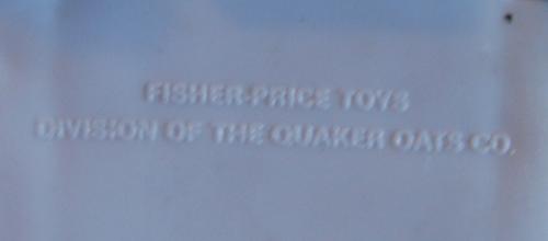 Fisher price firetruck underside