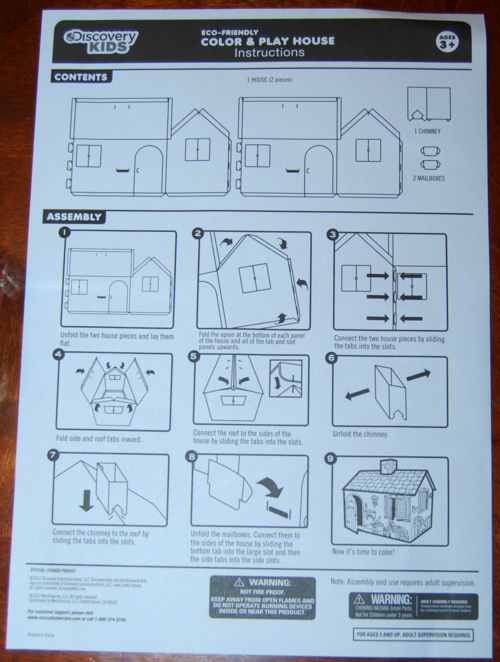 Discovery kids playhouse instructions