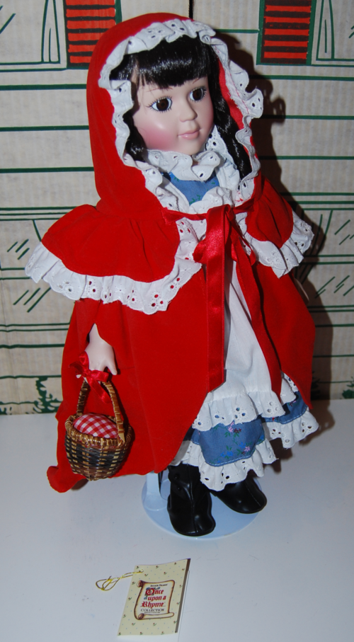 Little red riding hood porcelain doll x