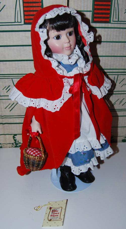 Little red riding hood porcelain doll x