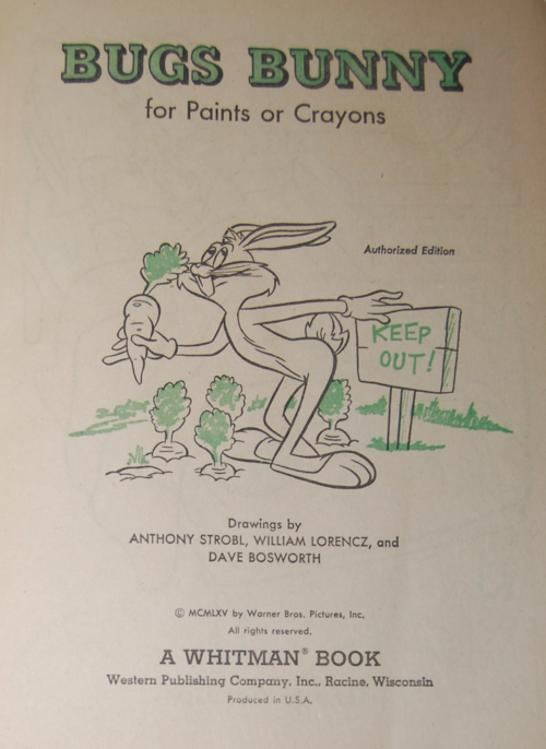 Bugs bunny coloring book 2