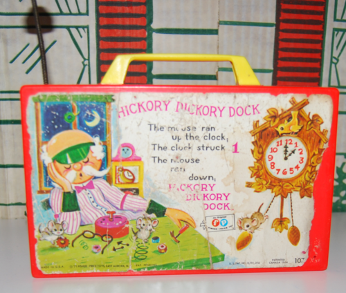 Fisher price hickory dickory dock clock back