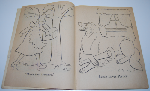 Lassie coloring book 2