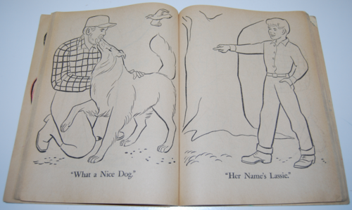 Lassie coloring book 6