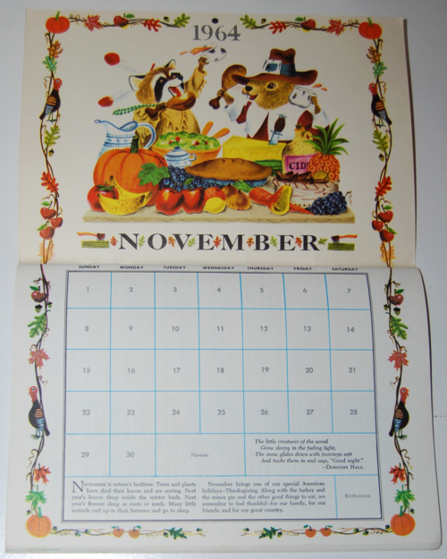 Golden magazine november 1964 calendar