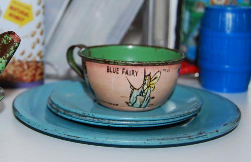 Blue fairy teacup
