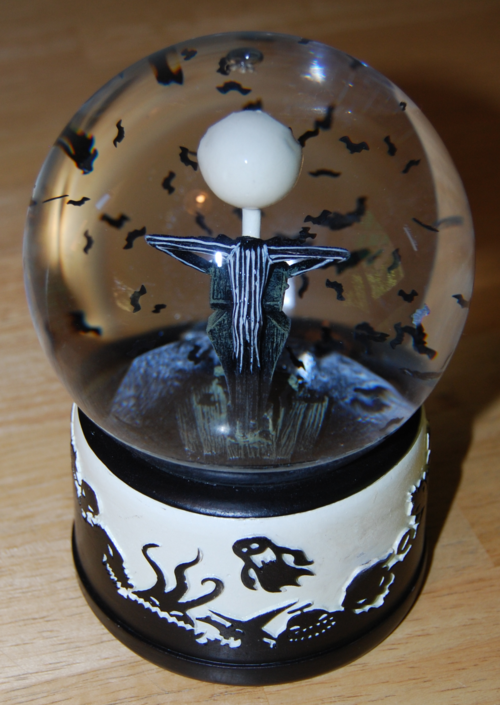 Nightmare before christmas globe back