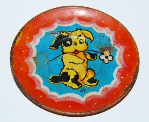 Ohio art tin plate pup