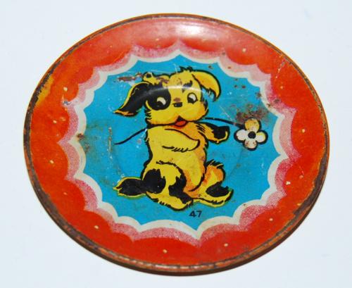 Ohio art tin plate pup