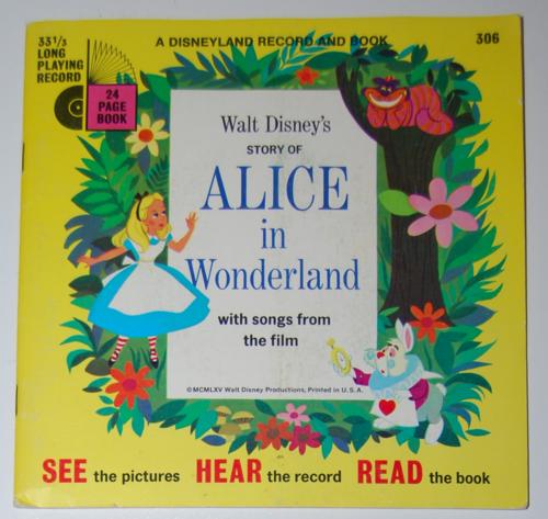 Disney alice book record 1965
