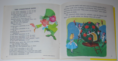 Disney alice book record 1979 pages