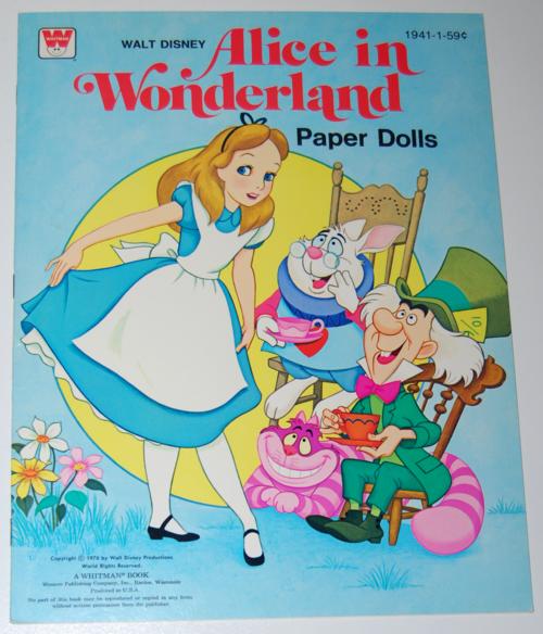 Alice in wonderland paperdolls