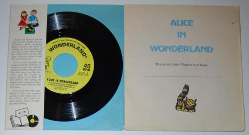 Wonderland alice book record inside