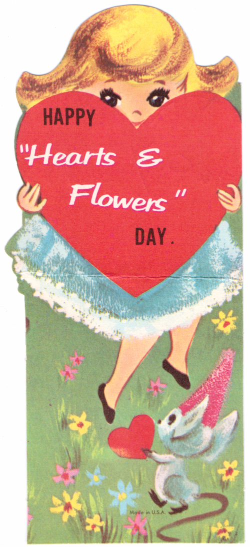 Vintage valentine hearts & flowers