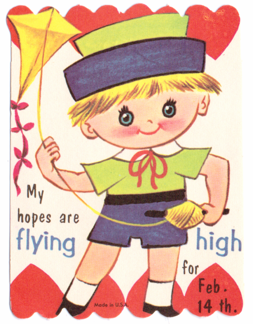 Vintage valentine kite