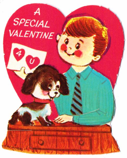 Vintage valentine dog 2
