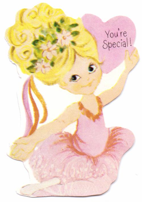 Vintage valentine ballerina